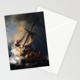 The Storm on the Sea of Galilee, Rembrandt Stationery Cards