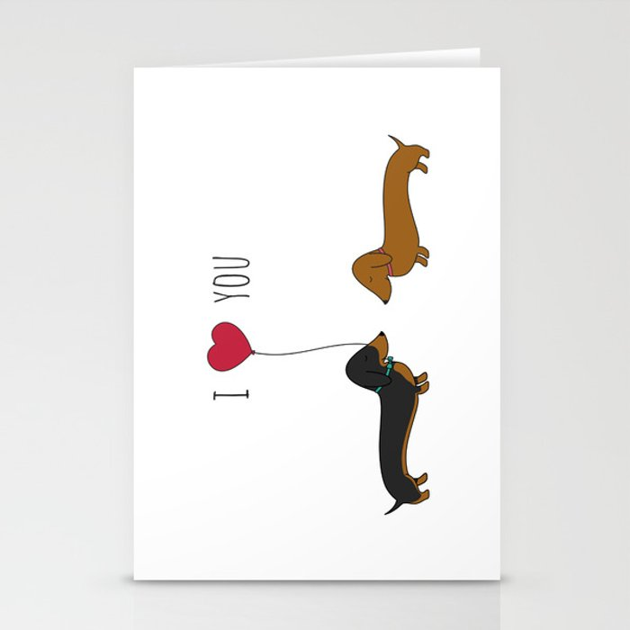 DACHSHUND LOVE Stationery Cards