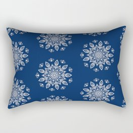 RB Mandala Design with botanical elements Rectangular Pillow