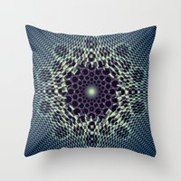 portal Throw Pillows featuring Portal by Truly Juel