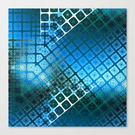 Place 2B Pattern (Summer Sky Blue) Canvas Print
