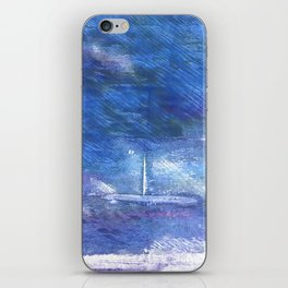 Chinese blue abstract watercolor iPhone Skin