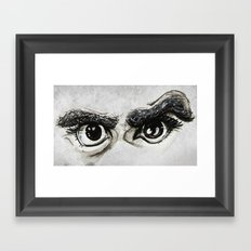 Doubt Black Eyes Framed Art Print