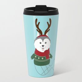 Happy Pet in Ugly Christmas Sweaters Travel Mug