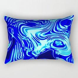 Where Lost Socks Go: Blue Swirled Abstract Rectangular Pillow