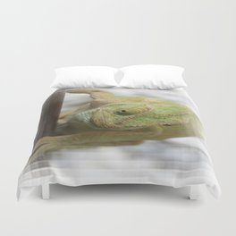 Chameleon: Fifty Shades of Green Duvet Cover
