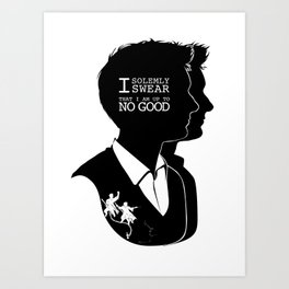 Fred & George - Quote Silhouette Art Print