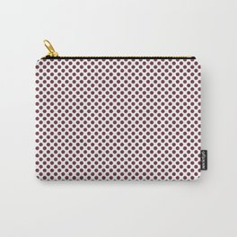 Tawny Port Polka Dots Carry-All Pouch
