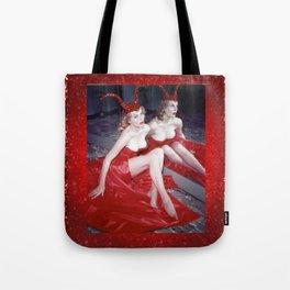 Femme Fatale - Anita Red Devil Glitter Tote Bag