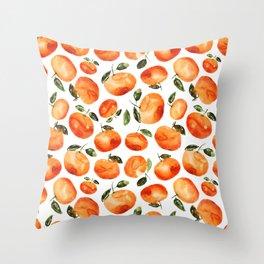 Watercolor tangerines Throw Pillow