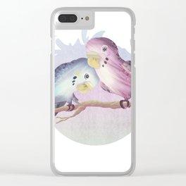 Little Parrots Clear iPhone Case