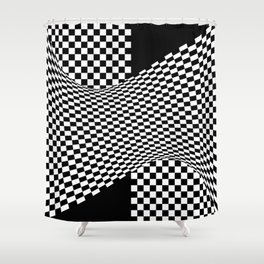 black white Shower Curtain