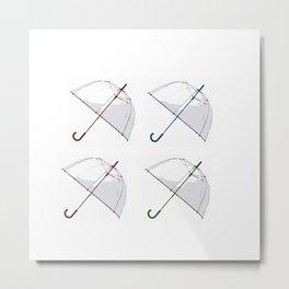Umbrella Pop Metal Print