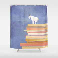 Goat on a Cliff Shower Curtain