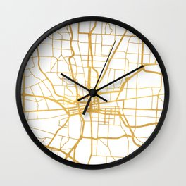 COLUMBUS OHIO CITY STREET MAP ART Wall Clock