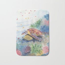 Sea Turtle and Friends Bath Mat