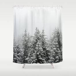Winter Forest Fir Tree Snow III - Nature Photography Shower Curtain