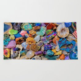 Rocks and Minerals, Geology Beach Towel
