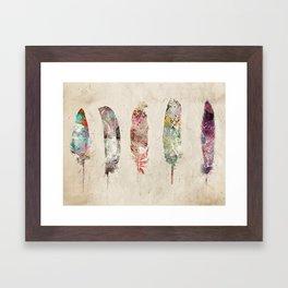 pop art feathers Framed Art Print