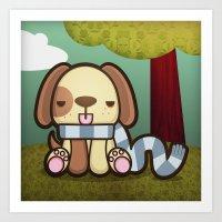 Freddy the Lazy Dog Art Print