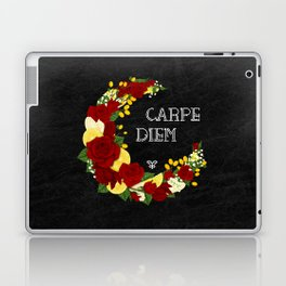 Crescent Bloom | Red roses and lemons Laptop & iPad Skin