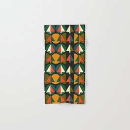 Retro Christmas trees Hand & Bath Towel