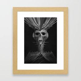 Skeleton Lady Framed Art Print