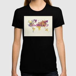 world map 90 wanderlust T-shirt