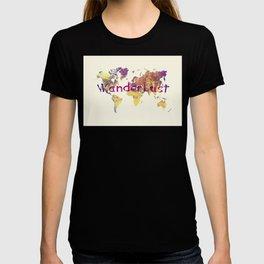 world map 90 wanderlust T-shirt