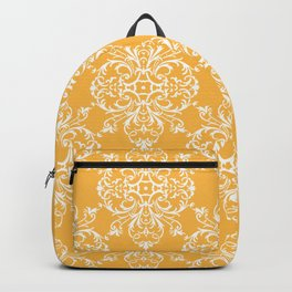 Yellow Retro Damask Backpack