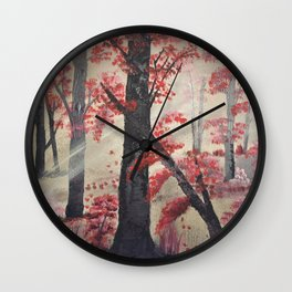 Chasing the light - Into the Forest Wall Clock