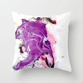 purple splurge Throw Pillow