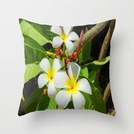 Enchanting Frangipani Throw Pillow