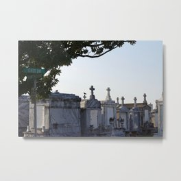 A Resting Place For Spirits Number 2 New Orleans 2 The Cemetery Crow Metal Print