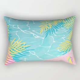 Tropical pool chill Rectangular Pillow