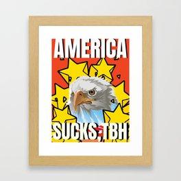 America Sucks, tbh Framed Art Print