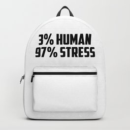 3% human funny quote Backpack
