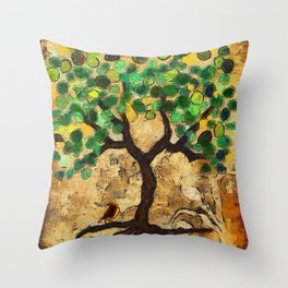 Roots Throw Pillow