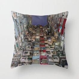 colourful apartment in hong kong Throw Pillow