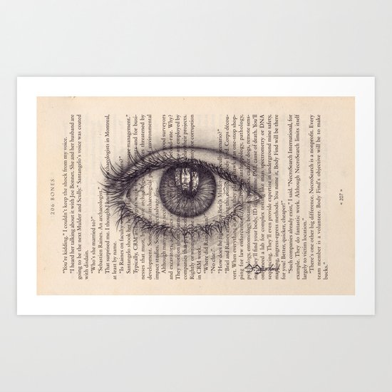 Eye in a Book Art Print