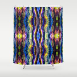 Hand Painted Waves Shower Curtain
