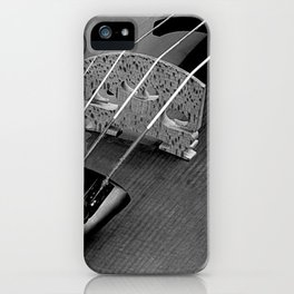 Strings - Black and White Violin Part One A621 iPhone Case