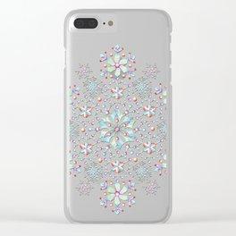 Snowflake Mandala Clear iPhone Case
