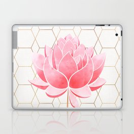 Lotus Blossom - Blush Pink and Metallic Gold Laptop & iPad Skin