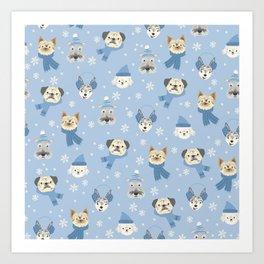 cozy dogs Art Print