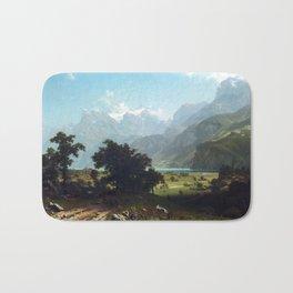 Albert Bierstadt Lake Lucerne Bath Mat