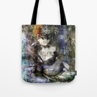 goth Tote Bags featuring whitby goth by yairi