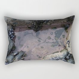 Pink Ocean Rock Pool with Mussels Rectangular Pillow