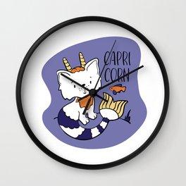 Capricorn Zodiac Sign. Cute Cat Zodiac. Astrological sign Capricorn Wall Clock