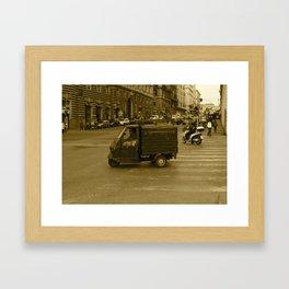 Little Truck, Big City Framed Art Print